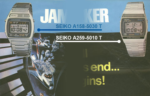 The SEIKO A158 Moonraker promotional advertisement